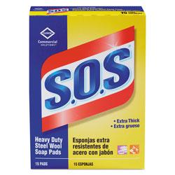 S.O.S. Steel Wool Soap Pad, 15 Pads/Box