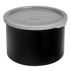 Cambro Crock Solid 1.5 Quart With Lid Black