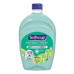 Softsoap Antibacterial Liquid Hand Soap Refills, Fresh, 50 oz, Green, 6/Carton