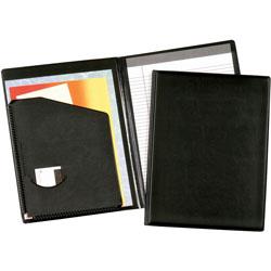 Cardinal Business Basics™ Pad Holder With Expand-A-Pocket™, 9-1/2 x 12-1/2, Black
