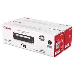 Canon 2662B004 (118) Toner, Black, 2/Pack