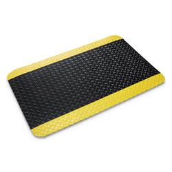 Ludlow Composites Deck Plate Vinyl Anti-Fatigue Mat, 3' x 5', Black