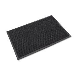 Ludlow Composites Super-Soaker Wiper Mat w/Gripper Bottom, Polypropylene, 36 x 120, Charcoal