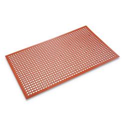 Ludlow Composites Safewalk-Light Heavy-Duty Anti-Fatigue Mat, Rubber, 36 x 60, Terra Cotta