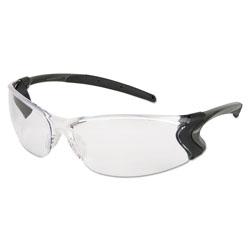 MCR Safety Backdraft Glasses, Clear Frame, Hard Coat Clear Lens