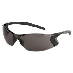 MCR Safety Backdraft Glasses, Clear Frame, Hard Coat Gray Lens