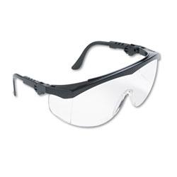 Crews Tomahawk Wraparound Safety Glasses, Black Nylon Frame, Clear Lens, 12/Box