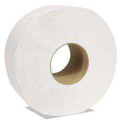 Cascades Decor Jumbo Roll Jr. Tissue, 2-Ply, White, 3 1/2 in x 750 ft, 12 Rolls/Carton