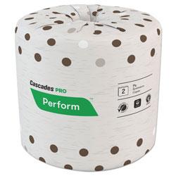 Cascades Select Standard Bath Tissue, 2-Ply, White, 4.25 x 4, 400/Roll, 80/Carton