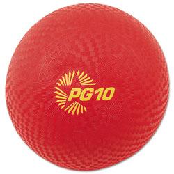 Champion Playground Ball, 10 in Diameter, Red