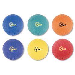 Champion Playground Ball Set, Nylon, Assorted Colors, 6/Set