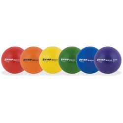 "Champion Rhino Skin Ball Sets, 6.5"", Blue, Green, Orange, Purple, Red, Yellow, 6/Set"