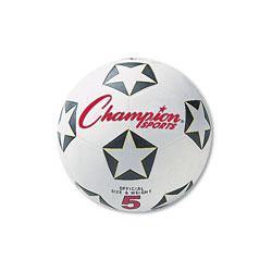 Champion Rubber Sports Ball, For Soccer, No. 4, White/Black