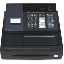 Casio Single Printer Cash Register, 13 in x 14 in x 7-2/5 in, Black