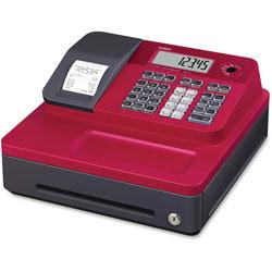Casio Thermal Cash Register, 12-4/5 in x 13-1/2 in x 6-1/2 in, Red