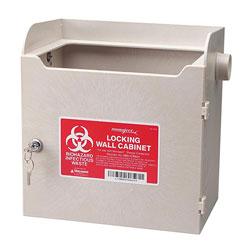 Covidien Biohazard Wall Cabinet, f/ 4/8 Qt., 11-1/2 in x 7 in x 12 in, Beige