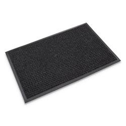 Crown Super-Soaker Wiper Mat with Gripper Bottom, Polypropylene, 24 x 36, Charcoal