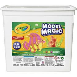 Crayola Model Magic Modeling Compound, 8 oz each/Neon, 2 lbs.