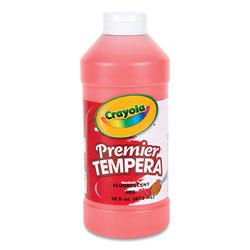 Crayola Premier Tempera Paint, Fluorescent Red, 16 oz