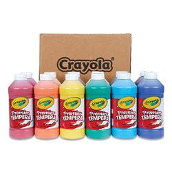 Crayola Premier Tempera Paint, 12 Assorted Colors, 16 oz, 12/Set