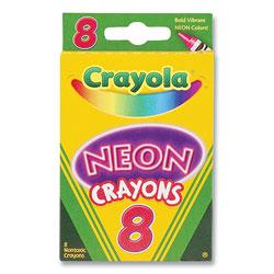 Crayola Neon Crayons, Assorted, 8/Pack