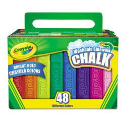 Crayola Washable Sidewalk Chalk, 48 Assorted Bright Colors, 48 Sticks/Set