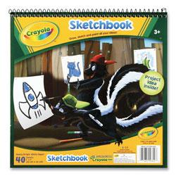 Crayola Wirebound Sketchbook, 75 lb, 9 x 9, White, 40 Sheets