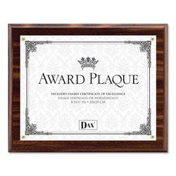 Dax Award Plaque, Wood/Acrylic Frame, Up to 8 1/2 x 11, Walnut
