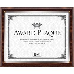 Dax Insertable Plaque, 8 1/2 x 11, Walnut