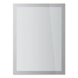 Durable Office DuraClip® DURAFRAME SUN Sign Holder, 8.5 x 11, Silver Frame, 2/Pack