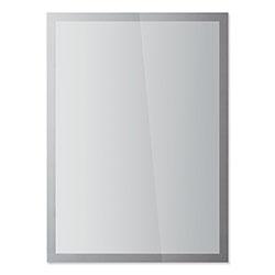 Durable Office DuraClip® DURAFRAME SUN Sign Holder, 11 x 17, Silver Frame, 2/Pack