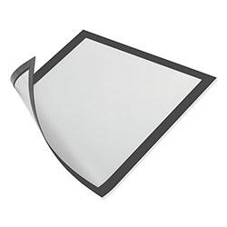 Durable Office DuraClip® DURAFRAME Magnetic Sign Holder, 5.5 x 8.5, Black Frame, 2/Pack