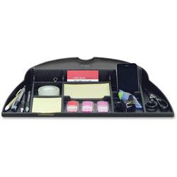 Data Accessories Corp Organizer Tray, f/Monitor Arm, Adj., 12 in x 18 in x 2-1/2', Black