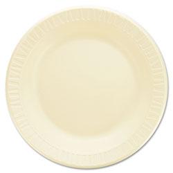 Dart Laminated Foam Dinnerware, Plates, 10 1/4 in, Honey, 125/Pk, 4 Pks/Ctn