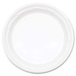 Dart Famous Service Impact Plastic Dinnerware, Plate, 10 1/4 in dia, White, 500/Carton