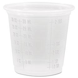 Dart Conex Complements Graduated Plastic Portion Cups, 1.25oz, Translucent, 2500/CT