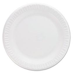 Dart Concorde Non-Laminated Foam Plates, 9 inDiameter, White, 125/Pack