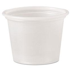 Solo Polystyrene Portion Cups, 1 oz, Translucent, 2500/Carton
