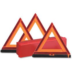Deflecto Emergency Warning Triangle Kit, Orange/Red