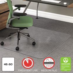 Deflecto RollaMat Frequent Use Chair Mat, Medium Pile Carpet, Flat, 46 x 60, Rectangle, Clear