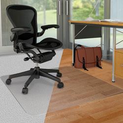 Deflecto DouMat Mat, Carpet/Hard Floor, 36 in x 48 in, Clear