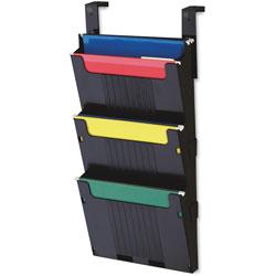 "Deflecto Hanging File System, 3 Slots, 12 5/8""x3 7/8""x25"", Black"