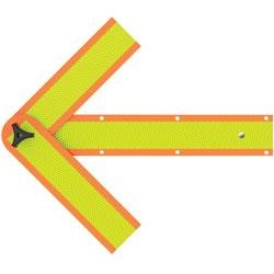 Deflecto Safety Arrow, 18 in, Orange