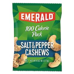Emerald 100 Calorie Pack Nuts, Salt and Pepper Cashews, 0.62 oz Pack, 7/Box