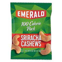 Emerald 100 Calorie Pack Nuts, Sriracha Cashews, 0.62 oz Pack, 7/Box