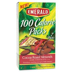 Diamond 100 Calorie Pack Cocoa Roast Almonds, 0.63 oz Packs, 7/Box
