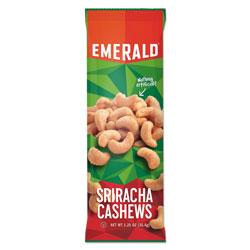 Emerald Snack Nuts, Sriracha Cashews, 1.25 oz Tube, 12/Box