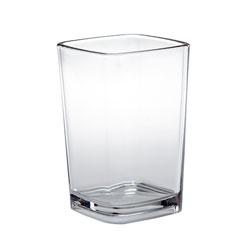 Cambro DG3CW Aliso 3.4 oz. Plastic Square Shot Glass / Dessert Glass - 72/Case