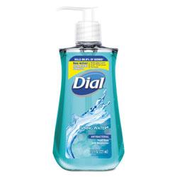 Dial Antibacterial Liquid Hand Soap, Spring Water, 7.5 oz Bottle, 12/Carton