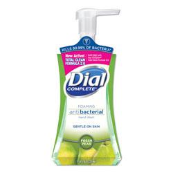 Dial Antibacterial Foaming Hand Wash, Fresh Pear, 7.5 oz Pump Bottle, 8/Carton